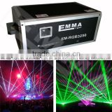 Laser show 25 watt rgb RGB laser light projector for Car show and other event show laser Christmas show