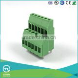 UTL 2016 Highest Demand 5mm Pitch Brass Contact Screw Clamp PCB Terminal Block 0.2mm To 4mm