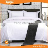 new design Egypt cotton plain white hotel bedding set