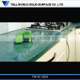 TW hot sale blue color kitchen quartz countertops
