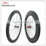 Road clincher wheelset 50/88mm bicycle wheel with powerway R36 red hub + Sapim cx ray spoke