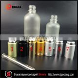 30ml 50ml 60ml 100ml 120ml clear frosted glass dropper bottle with pump cap for cosmetic oil packing                                                                                                         Supplier's Choice