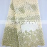 High quality cotton guipure lace fabric african cord lace party dress fabric beaded lace fabric