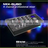 Factory supply stage DJ mixer MIX-5USD high quality USB SD Card professional sound system dj mixer