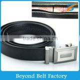 Men's Travel Black Genuine Leather Money Belt with Slide Buckle Sizes 32 through 50                                                                         Quality Choice