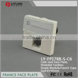 LY-FP178B-S-C6 hot sell factory directly selling cat6 stp shielded faceplate keystone jack legrand