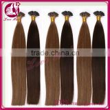 6A wholesale unprocessed Pre bonded I-tip Hair Extensions blonde Brazilian human hair extensions I tip hair extensions