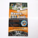 self-standing ziplock resealable aluminum Aluminum foil frozen dog food pouch with tear notch
