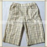 2013 Boy kids fashion cargo checked shorts