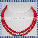 8mm 36inch Natural coral necklace wholesale turkish jewelry