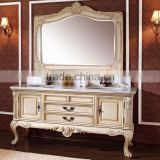 WTS3277 Luxury Euro Style Antique Bathroom Vanity classical Wooden Bathroom Furniture for Villa