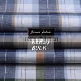 James Yarn Dyed Cotton Linen Shirting Fabric, Stripe/Check/Plaid Fabric