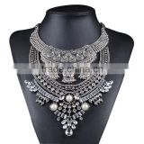 2 Colors Bohemia Ahion Vintage Tibetan Crystal Pearl Boho Necklace Charms Tribal Ethnic Turkish Necklaces Pendants Collares