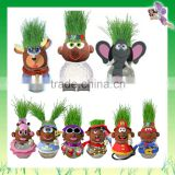Latest Growing Head animals grass doll