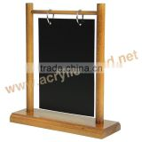 table wood display stand wholesale/ wood menu chalkboard