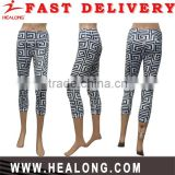 Professional Custom Made Spandex / Polyester Womens Running And Sport Wholesale Leggings