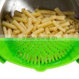 2016 China Alibaba Best Selling Mesh Silicone Clip-On Snap and Strain Strainer, Green