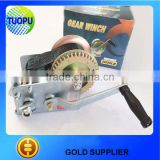 Marine 2000lbs hand wire winch,boat 2500lbs hand winch with strap,hand wire winch for boat