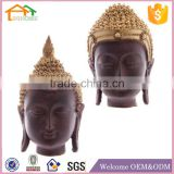 Factory Custom made best home decoration gift polyresin resin buddha head ornament