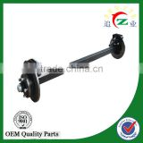 cheap solid trailer stub axle with brake for agriculture vehicle