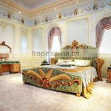Gorgeours French Style Rococo Wooden Carving Bedroom Furniture/ Royal Palace Luxury Bedroom Set/ Classic Queen & King Size Bed