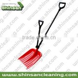 2015 fashionable long snow shovel with two handles/plastic snow shovel with two handles/plastic shovel spoon