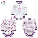 Custom 100% Cotton New born Baby Clothes,Organic cotton fashion infant wear baby romper baby clothes