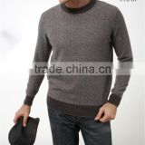 Wholesale round neck sweater mens knit cashmere pullover winter sweater