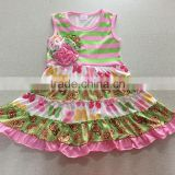 Popular design children Summer dress frocked designs baby girls Dress children's Girls fancy dress