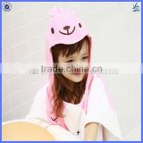 Promotional hooded towelling beach robe, poncho kids beach towel or children beach robe towel