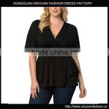 Plus size women clothing Special Women's Top v-neck good looking tops