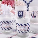 Charm Cute Sail Theme Glass Tea Light Holder Glass Votive Candle Holder For Wedding Baby Shower Party Decoration