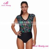 Wholesale Women Plus Size Print Sexy One Piece 2017 Swimsuit