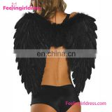 China wholesale black angel wings costume for sale
