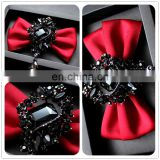 Aidocrystal Fashion Bow Ties For Men Bowtie Tuxedo Classic Red Color Wedding Party Neck Tie