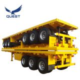 40ft 3axles flatbed trailer container flat bed semi trailer