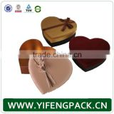 wholesale custom storage distribution kraft paper gift heart shaped packaging chocolate box