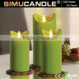 Flameless Flickering LED Tea Light Battery Candles Wedding Party with USA patent approved!