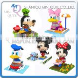 Mini Qute SC Kawaii American avenger cartoon mouse duck dog diamond block plastic building block boys educational toy
