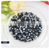 High quality SS3 round crystal rhinestone with hot fix and flat dark blue for dress