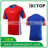 China alibaba new style cheap custom yellow blue black soccer jersey wholesale blank soccer jersey