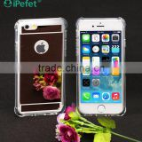 iPefet-TPU mirror back cover case cell phone case Aluminum metal bumper case for iPhone 6