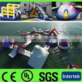 2014 cheap commercial inflatable floating island / inflatable water island for kids and adults
