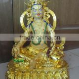 Bronze Tantric yellow god of wealth statue