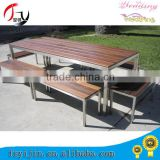 Hot selling folding table and benches with teak