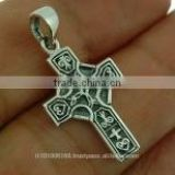 Small Celtic Cross Silver Pendant, pn110