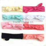 Wholesale girls cotton baby headband with bow cheap girl heandband                                                                         Quality Choice