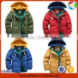 New design plain and casual winter down coat for boys wear winter jacket wholesale warm winter baby clothes (ulik-J007)