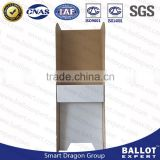 Corrugated plastic lightweight economical voting booth floor stand