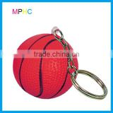 Mini Antistress PU foam Basketball Stress Reliever Squeeze Toy Ball Key Chain